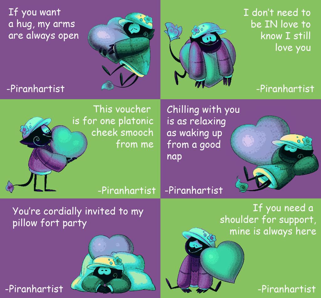Platonic Valentines by Piranhartist