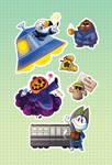 AC Zine Sticker Sheet