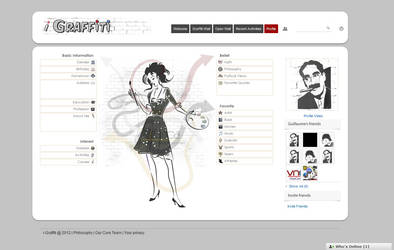 i-graffiti Profile Page Female by vectorbending