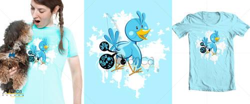 Spamming Blue Bird by vectorbending