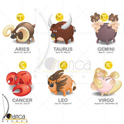 Zodiac Sign 01 by vectorbending