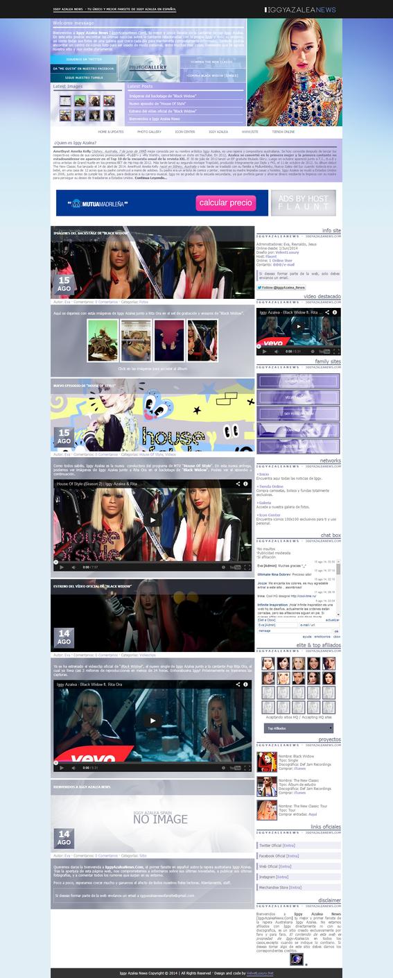 Iggy Azalea News Wordpress Theme by DontCallMeEve