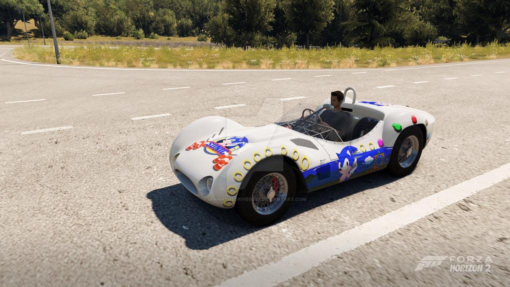 Maserati Birdcage Sonic the Hedgehog by iannathedriveress
