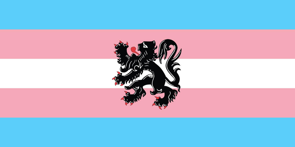 Transgender Pride Flanders Flag by iannathedriveress