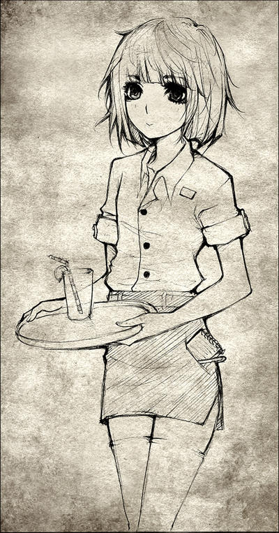 Waitress commission by F-AYN-T by Tsuyoshi-kun
