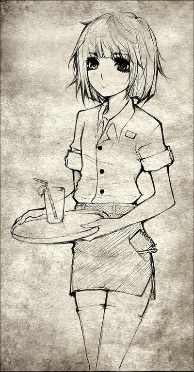 Waitress commission by F-AYN-T by Tsuyoshi-kun