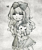 Waitress' baby sis commission by Tsuyoshi-kun