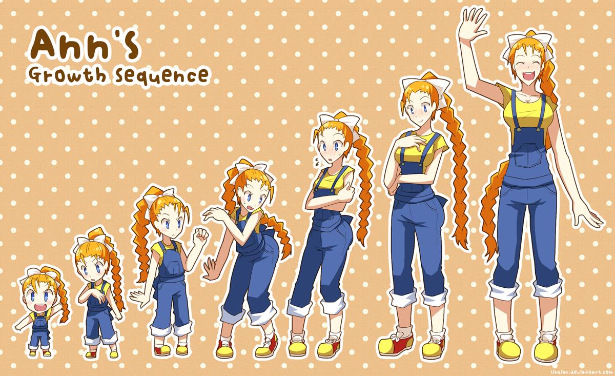Anime Girl Growth ann's growth sequencetsuyoshi-kun on deviantart