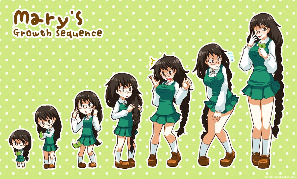Anime Girl Growth mary's growth sequencetsuyoshi-kun on deviantart