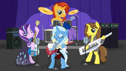 Rock The Night (Trixie and The Re-Illusions - MLP) by Grapefruit-Face