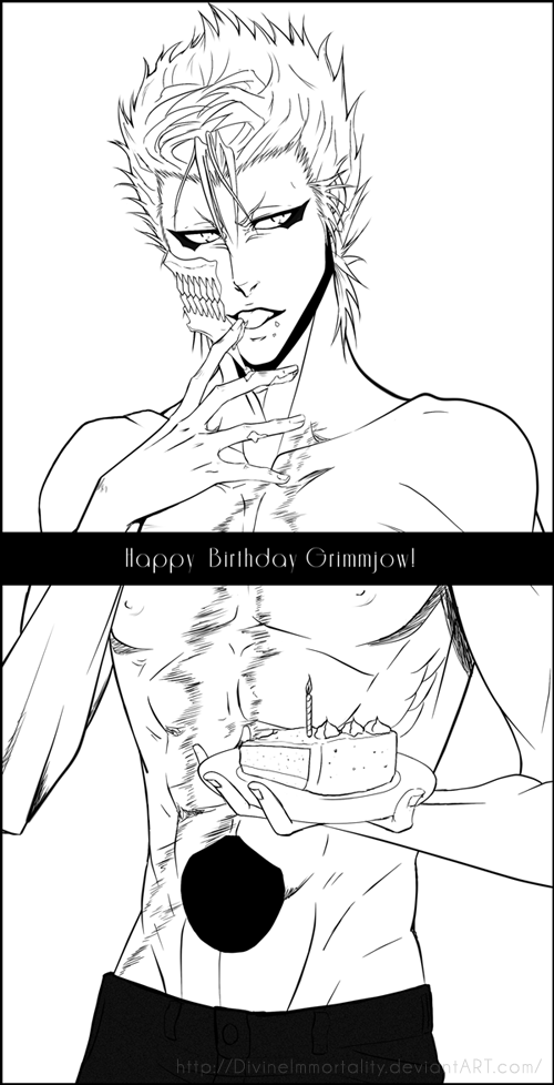 Happy Birthday Grimmjow! |2013 by DivineImmortality