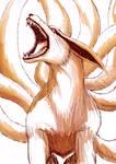 Kurama Sketch| Naruto
