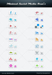 Free Minimal Social Media Icon PSD