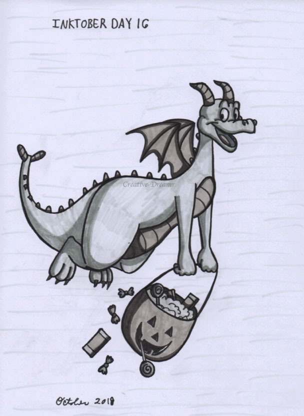 Inktober Day 16 - Figment by Creative-Dreamr