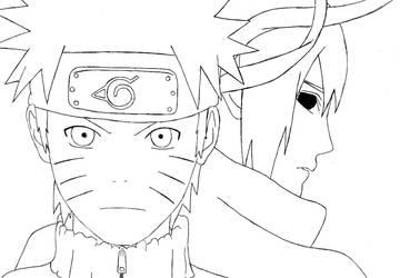 Naruto and Sasuke by Leeeh-Chan
