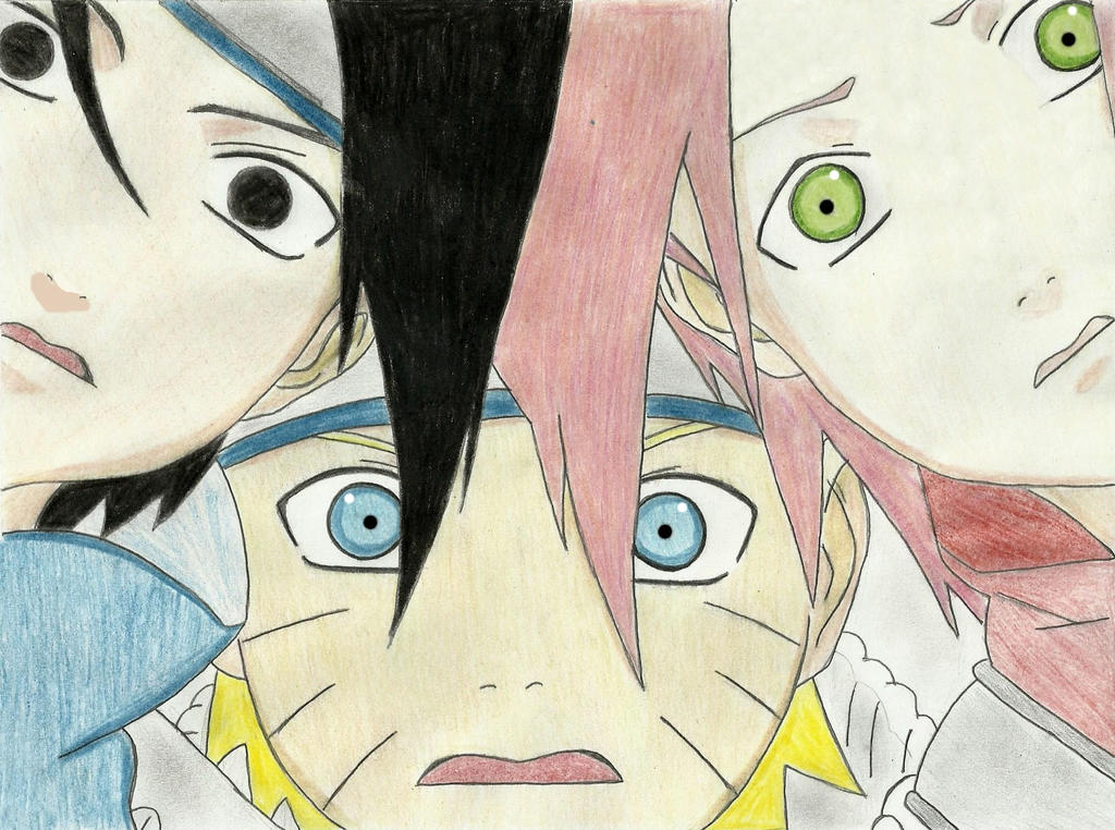 Naruto, Sakura and Sasuke. by LeeehChan on DeviantArt