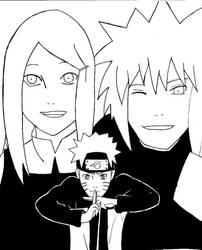 Naruto, Kushina and Minato by Leeeh-Chan