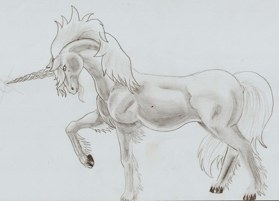 Unicornio Dibujo A Lapiz