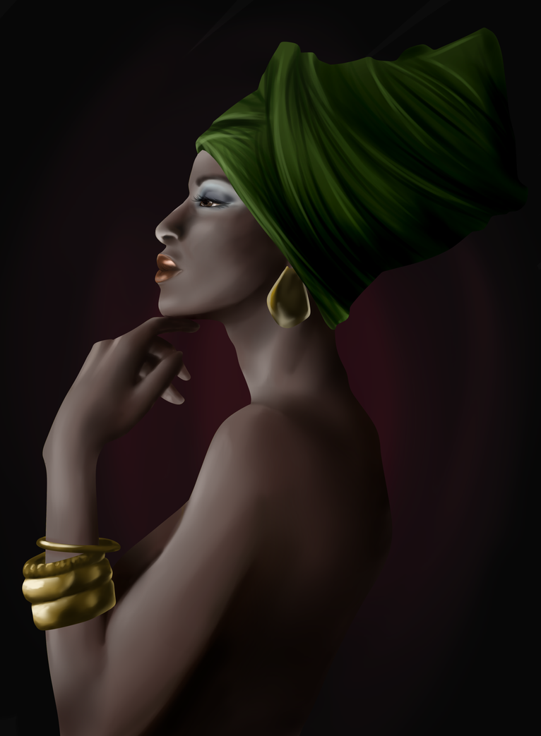 African beauty by Seni-Ines