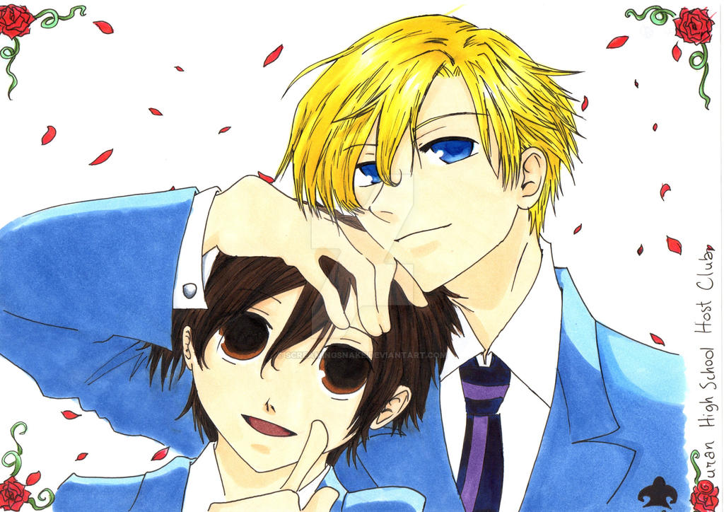 Haruhi and Tamaki from Ouran HSHC by screamingsnake