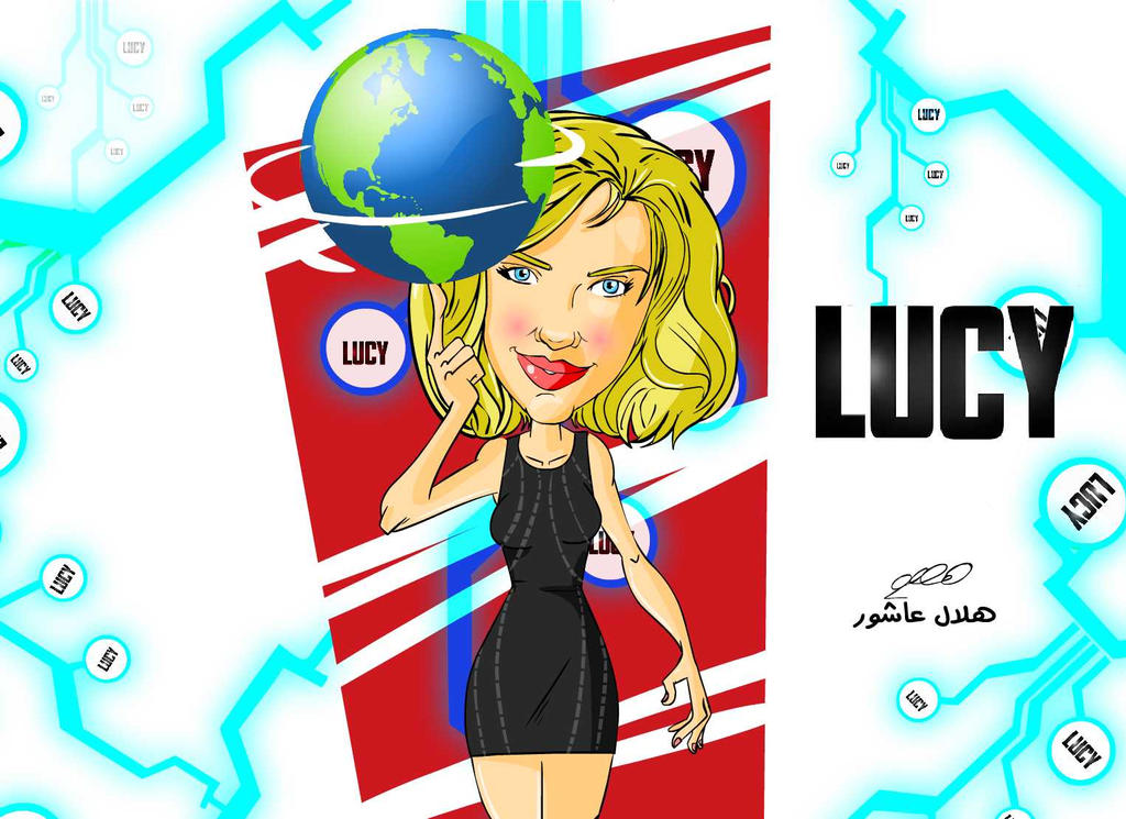 Lucy cartoon by superhilalo