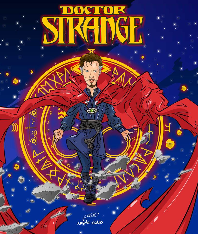 dr strange cartoon by superhilalo