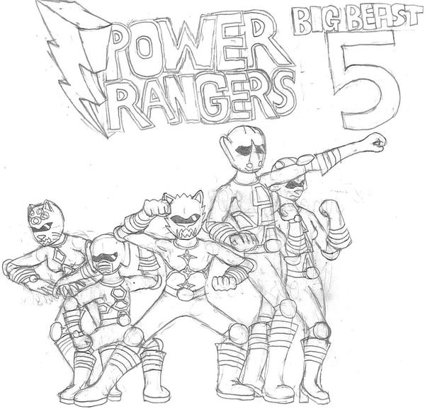 Power Rangers Big Beast Five by ACDrawings on DeviantArt