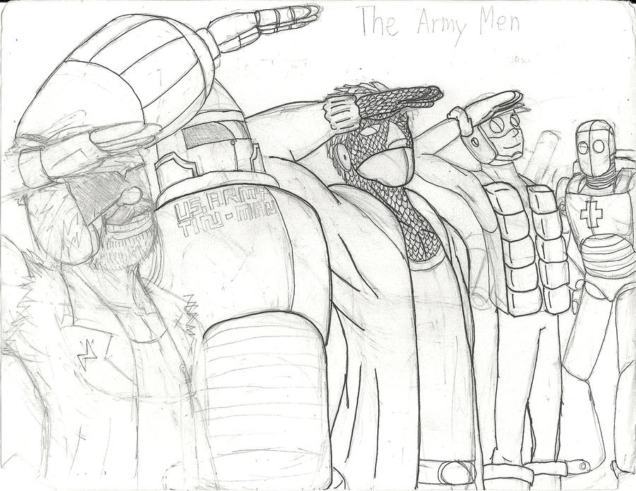 The Army Men by AC-Drawings on DeviantArt