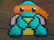Orange Ninja Turtle by PerlerBeadGirl