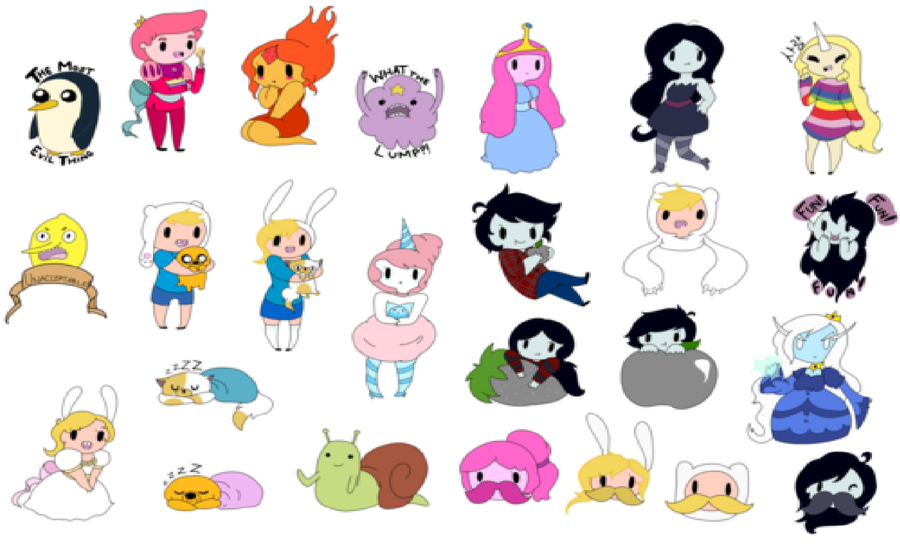 Adventure time people by ask-cake on DeviantArt