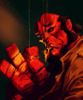 Hellboy by Grobi-Grafik