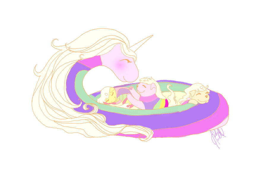 Lady and Jake's babies by MinishCapsLock