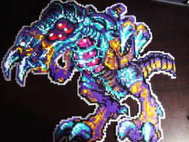 Omega Metroid in Perler by AlyciaZU