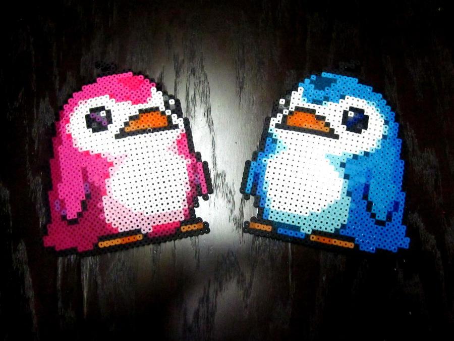 Perler Penguins by AlyciaZU