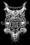 Khorne dotwork, black background