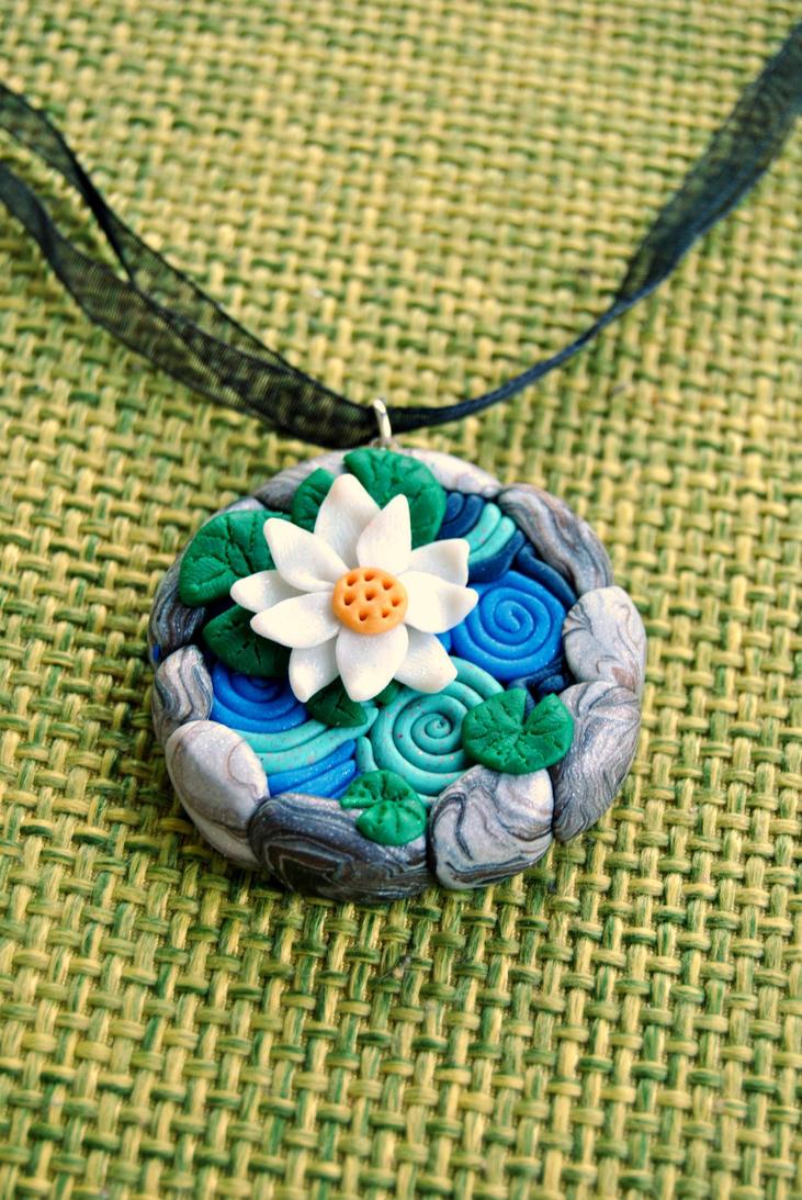 Lily pond necklace by Kurenai87