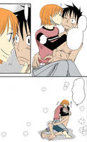 Luffy x Nami 3 by Gelabird