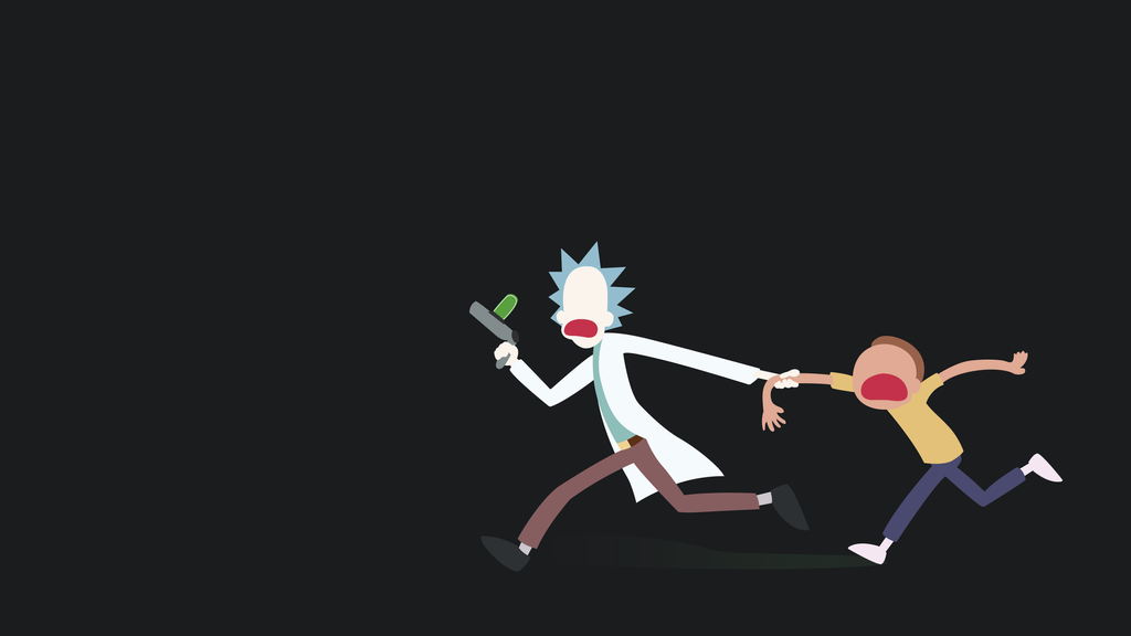 Minimalist Rick And Morty By Theztret00 On DeviantArt