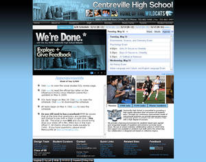 Centreville HS site redesign