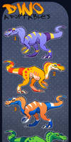 Dino Adoptable Sheet - CLOSED by TheJiggyMonster