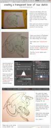 Transparent Sketch Tutorial - Photoshop CS6 by TheJiggyMonster