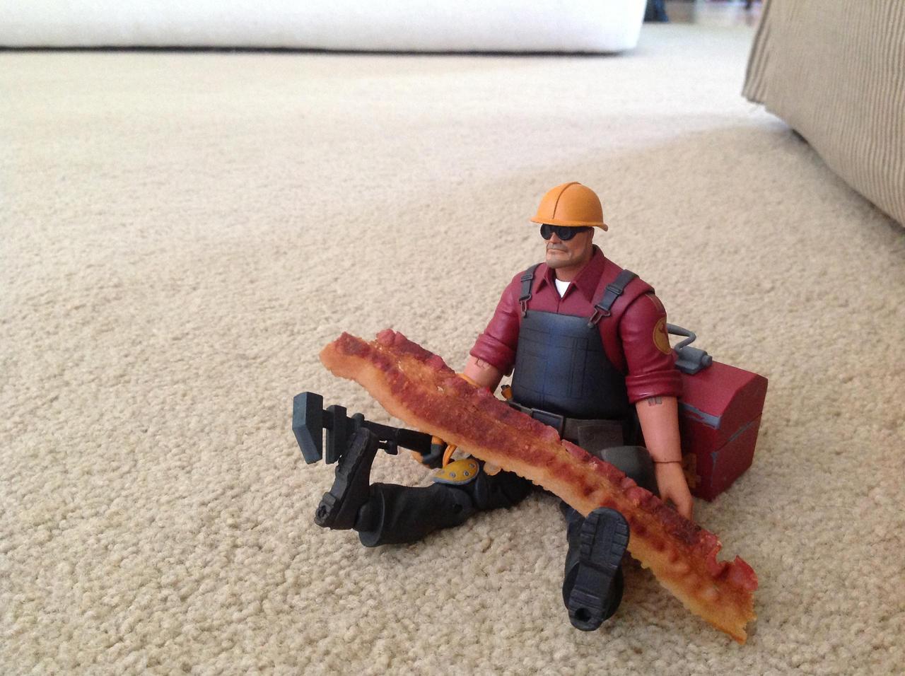 Makin Bacon. by LuigiFan00001