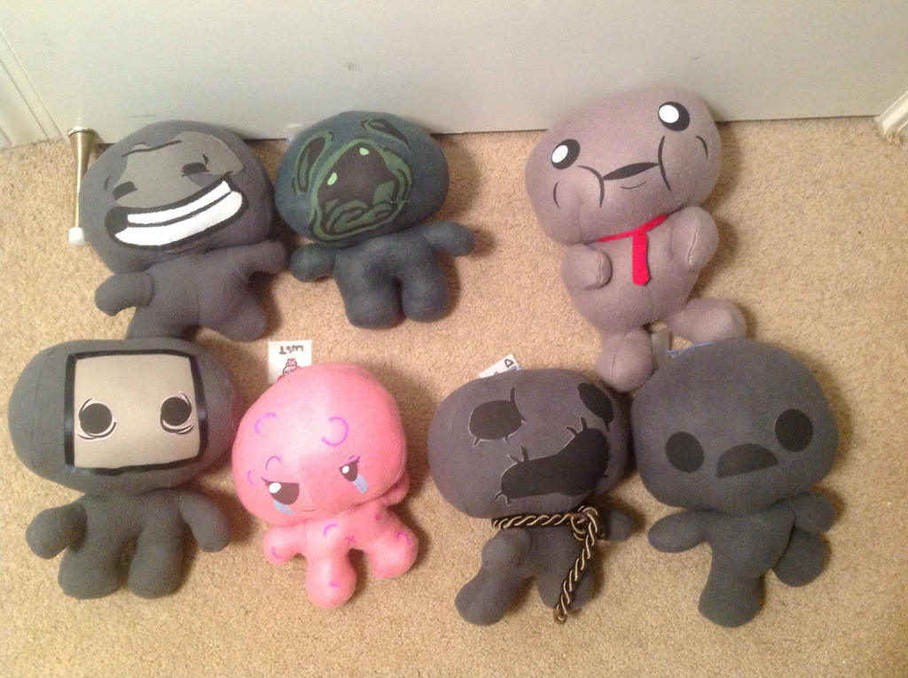[The Binding of Isaac] The Seven Deadly Plushies! by LuigiFan00001