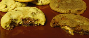 Nutella and Peanut Butter Filled Cookies