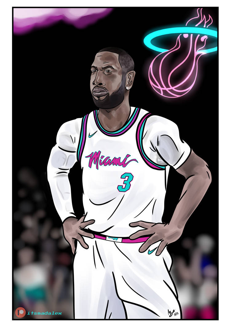 aeb6342e9 THE R3TURN (Miami Vice Edition) - Dwyane Wade by madalexart on ...