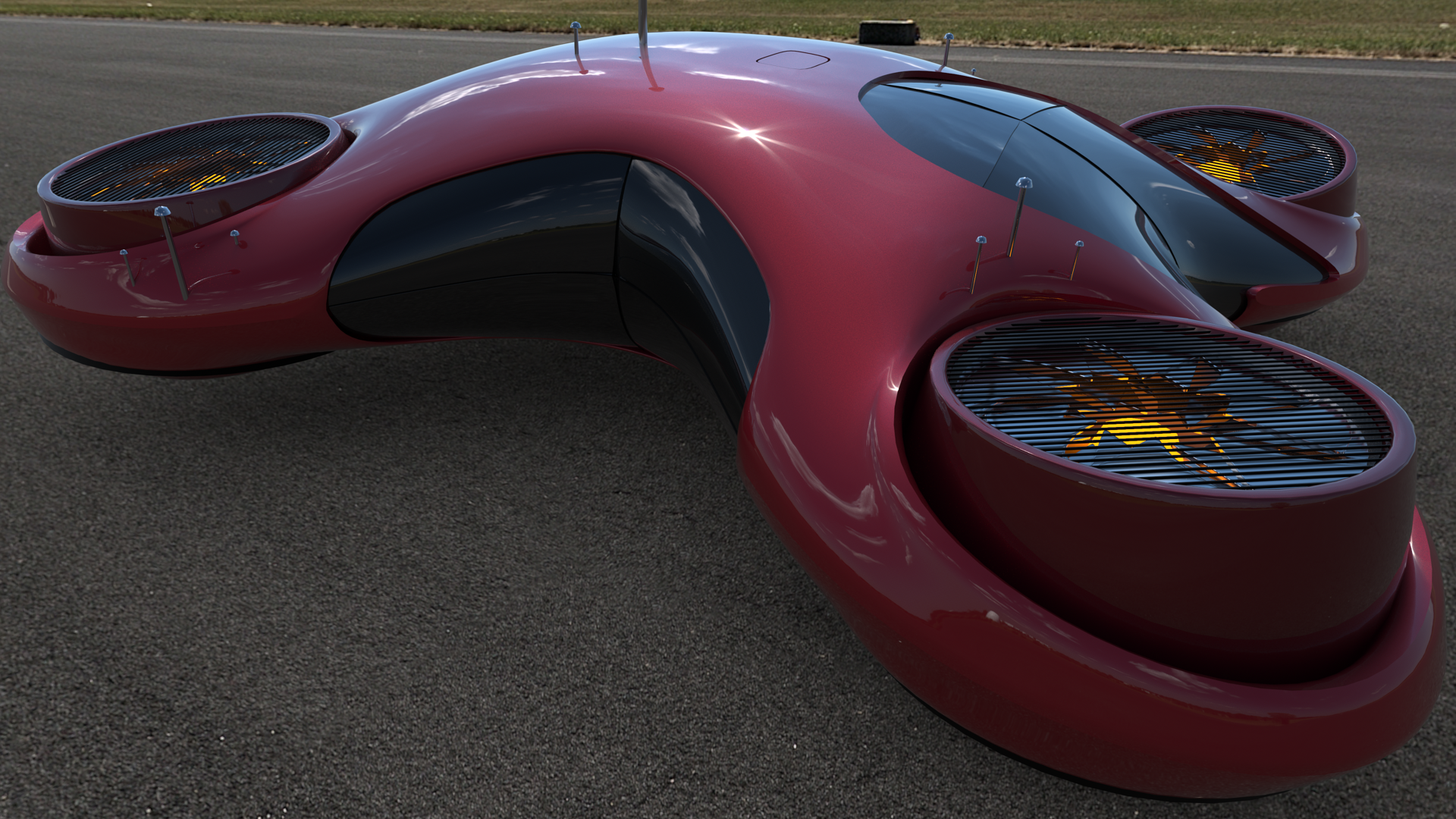 Drone Car 1080p By Hermond