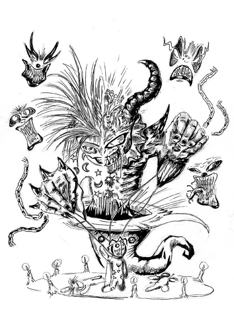 clown demon by drgn-skull05 on DeviantArt