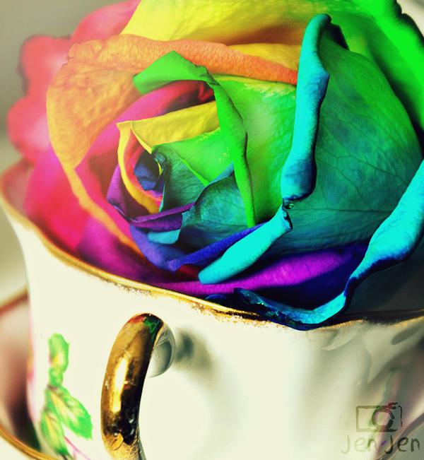 Rainbow Scented Petals by VelvetRedBullet