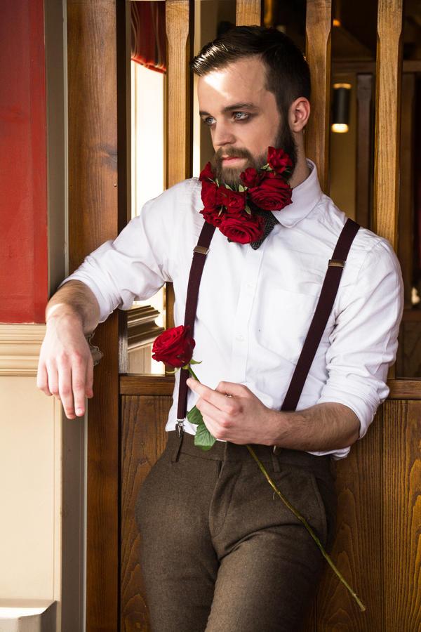 Rose Flower Beard 2 by VelvetRedBullet