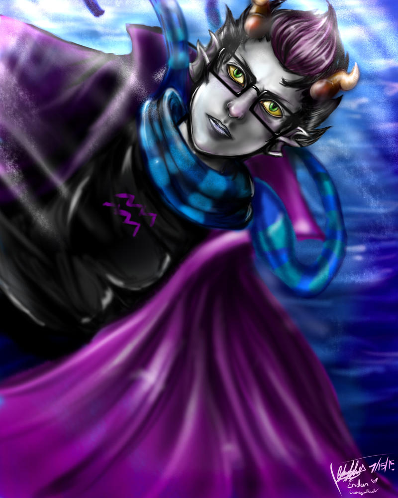 Sparkly Fish Man : Eridan by EpicNinjaArtist